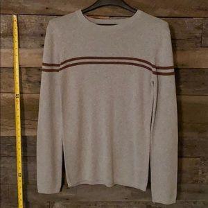 Aeropostale grey & maroon/brown striped sweater